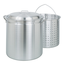 Bayou Classic 60-Quart Stockpot with Vented Lid and Basket