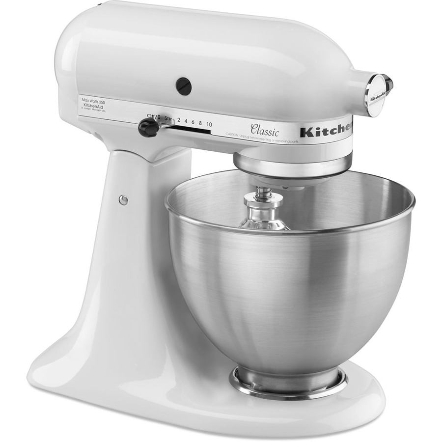 shop kitchenaid classic series 4 5 quart 10 speed white stand mixer at
