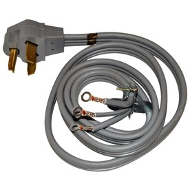 Whirlpool 4-ft 30 -Volt 10-Gauge Gray Indoor Dryer Extension Cord