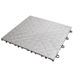 Gladiator 12-in x 12-in Silver Tread Plate Garage Vinyl Tile