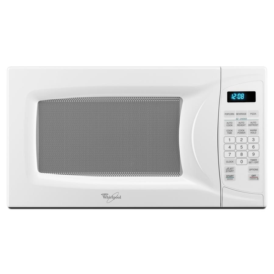 Shop Whirlpool 0.7 cu ft 700-Watt Countertop Microwave (White) at ...