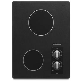 KitchenAid Smooth Surface Electric Cooktop (Black) (Common: 15-in; Actual 16.5625-in)