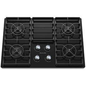 KitchenAid Architect II 4-Burner Gas Cooktop (Black) (Common: 30-in; Actual: 30.188-in)