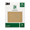 3M 5-Pack 220-Grit 9-in W x 11-in L Sheets Sandpaper