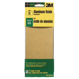 3M 9-Pack 3.6-in W x 9-in L 150-Grit Commercial Paint, Wood, Metal Sandpaper