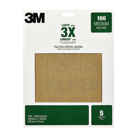 3M 5-Pack 9-in W x 11-in L 100-Grit Commercial Hand or Machine Sanding Sandpaper