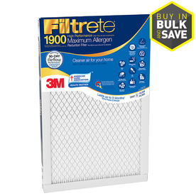 Filtrete Maximum Allergen Reduction Electrostatic Pleated Air Filter (Common: 16-in x 30-in x 1-in; Actual: 15.7-in x 29.7-in x 0.78125-in)
