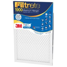 Filtrete Maximum Allergen Reduction Electrostatic Pleated Air Filter (Common: 20-in x 20-in x 1-in; Actual: 19.6-in x 19.6-in x 0.78125-in)