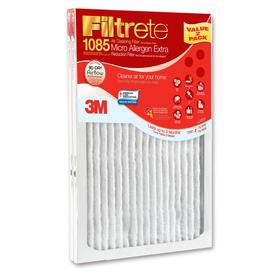 Filtrete 2-Pack Micro Allergen Extra Reduction Electrostatic Pleated Air Filters (Common: 14-in x 20-in x 1-in; Actual: 13.7-in x 19.6-in x 0.8125-in)