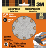 3M 15-Pack 40-Grit 5-in W x 5-in L Disc Sandpaper