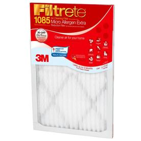 Filtrete Micro Allergen Extra Reduction 16-in x 16-in x 1-in Electrostatic Pleated Air Filter