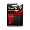 Scotch 2-Pack 1-in x 3-in Black Rectangle Fasteners