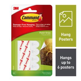Command 12-Pack Poster Strips