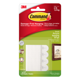 Command 4-Pack Small Picture Hanging Strips