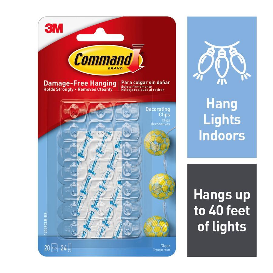shop command 20 pack adhesive hooks at. Black Bedroom Furniture Sets. Home Design Ideas