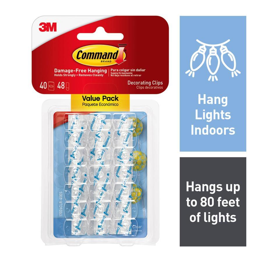 shop command 40 pack adhesive hooks at. Black Bedroom Furniture Sets. Home Design Ideas
