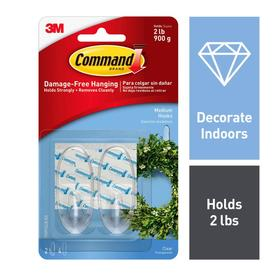 Command 2-Pack Adhesive Hooks
