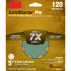 3M 6-Pack 120-Grit 5-in W x 5-in L Discs Sandpaper