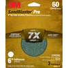 3M 3-Pack 60-Grit 6-in W x 6-in L Discs Sandpaper