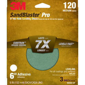3M 3-Pack 6-in W x 6-in L 120-Grit Commercial Discs Sandpaper