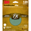 3M 3-Pack 120-Grit 6-in W x 6-in L Discs Sandpaper