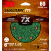3M 10-Pack 60-Grit 6-in W x 6-in L Discs Sandpaper