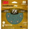 3M 10-Pack 80-Grit 6-in W x 6-in L Discs Sandpaper