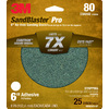 3M 25-Pack 80-Grit 6-in W x 6-in L Discs Sandpaper