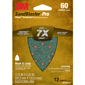 3M 12-Pack 3.75-in W x 5.25-in L 60-Grit Commercial Sandpaper Sheets