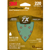 3M 12-Pack 220-Grit 3-3/4-in W x 5-1/4-in L Sheets Sandpaper