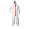 3M X-Large Unisex White Long Disposable Coveralls
