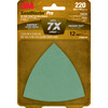 3M 12-Pack 220-Grit 3-5/825-in W x 3-5/825-in L Sandpaper