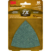 3M 12-Pack 80-Grit 3-5/825-in W x 3-5/825-in L Sandpaper