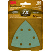 3M 12-Pack 120-Grit 3-5/825-in W x 3-5/825-in L Sandpaper