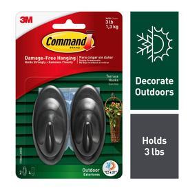 Command 2-Pack Plastic Adhesive Hooks
