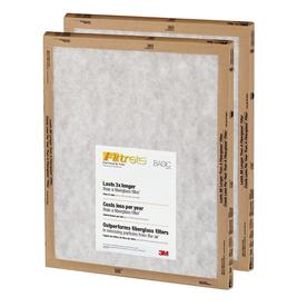 Filtrete 2-Pack Flat Panel Basic Flat Air Filters (Common: 14-in x 14-in x 1-in; Actual: 13.7-in x 13.7-in x 0.8125-in)