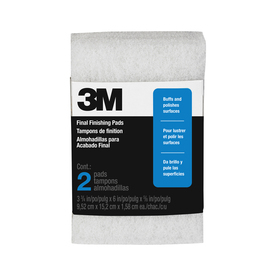 "3M 2-Pack 3-3/4"" x 6"" x 5/8"" Final Finishing Pads"