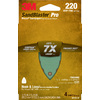 3M 4-Pack 220-Grit 3-3/4-in W x 5-1/4-in L Sandpaper