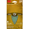 3M 4-Pack 120-Grit 4-3/16-in W x 6-3/4-in L Sandpaper