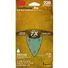 3M 4-Pack 220-Grit 4-3/16-in W x 6-3/4-in L Sandpaper