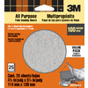 3M 25-Pack 4.5-in W x 5.5-in L 100-Grit Commercial Sandpaper Sheets