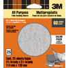 3M 25-Pack 4.5-in W x 5.5-in L 60-Grit Commercial Sandpaper Sheets