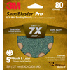 3M 12-Pack 80-Grit 5-in W x 5-in L Discs Sandpaper
