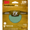 3M 4-Pack 220-Grit 5-in W x 5-in L Discs Sandpaper