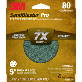 3M 4-Pack 5-in W x 5-in L 80-Grit Commercial Discs Sandpaper