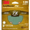 3M 12-Pack 120-Grit 5-in W x 5-in L Discs Sandpaper