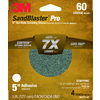 3M 4-Pack 60-Grit 5-in W x 5-in L Discs Sandpaper