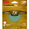 3M 4-Pack 120-Grit 5-in W x 5-in L Discs Sandpaper