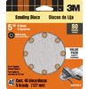3M 40-Pack 80-Grit 5-in W x 5-in L Discs Sandpaper