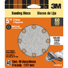 3M 40-Pack 60-Grit 5-in W x 5-in L Discs Sandpaper